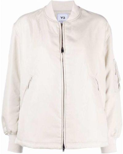 Белая куртка длинная Y-3
