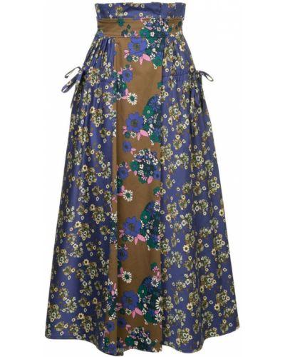 Синяя юбка с карманами Teija