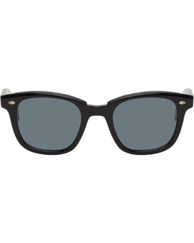Кожаные черные солнцезащитные очки квадратные Garrett Leight