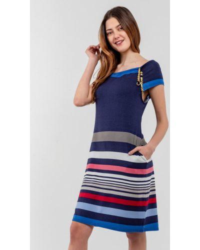 Трикотажное синее платье Modniy Oazis