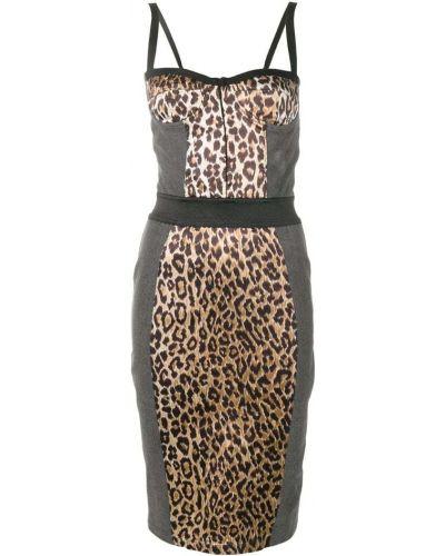Джинсовое платье футляр серое Dolce & Gabbana Vintage