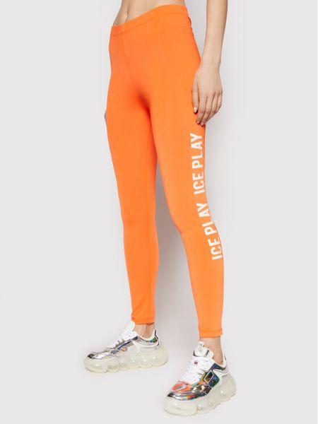 Pomarańczowe legginsy Ice Play