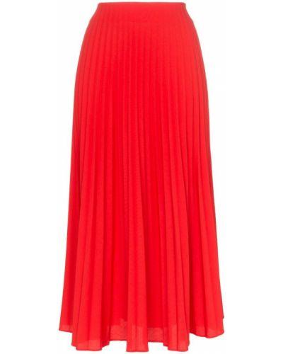 Плиссированная юбка миди красный Beaufille