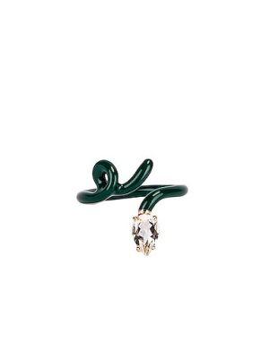 Zielony złoty pierścionek Bea Bongiasca