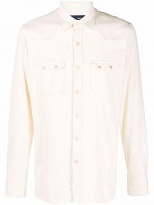 Biała koszula bawełniana Lardini