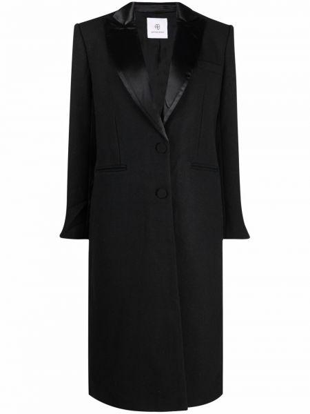 Шерстяное пальто - черное Anine Bing