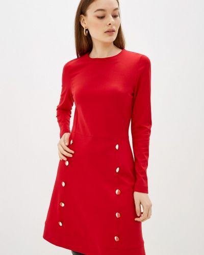 Прямое красное платье Арт-Деко