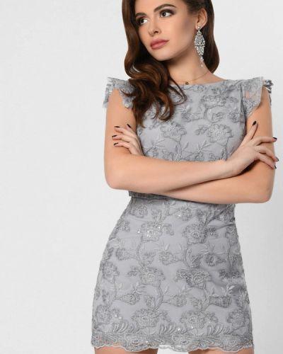 Серое вечернее платье Carica&x-woyz