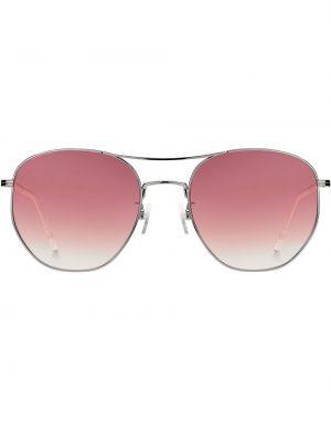 Klasyczne różowe okulary srebrne Tommy Hilfiger