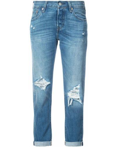 прямые рваные джинсы Levi's®