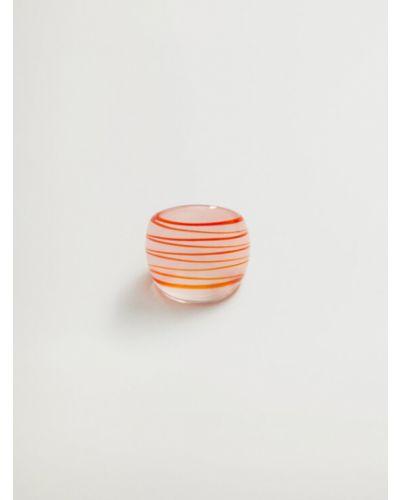 Pierścionek - różowy Mango