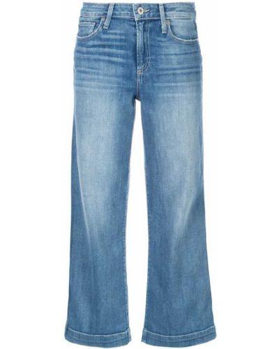 Широкие джинсы укороченные черные Paige