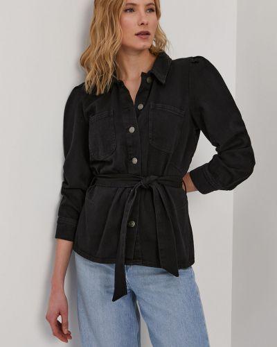 Czarna kurtka jeansowa z kapturem bawełniana Only