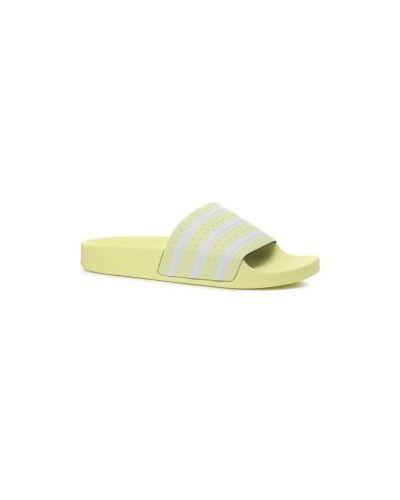 Желтые шлепанцы Adidas