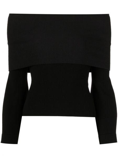 Czarna koszulka z długimi rękawami Altuzarra