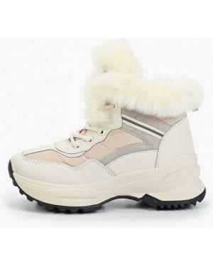 Высокие кроссовки замшевые белый Janessa