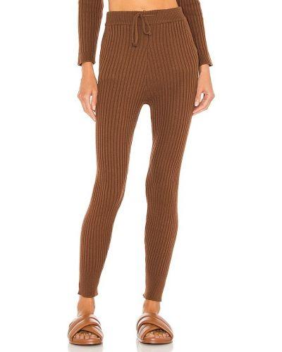 Brązowe spodnie bawełniane Majorelle
