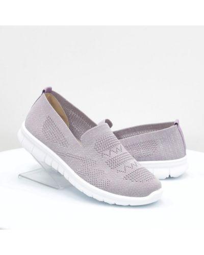 Фиолетовые кожаные слипоны Inblu