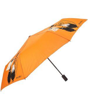 Зонт складной оранжевый Flioraj