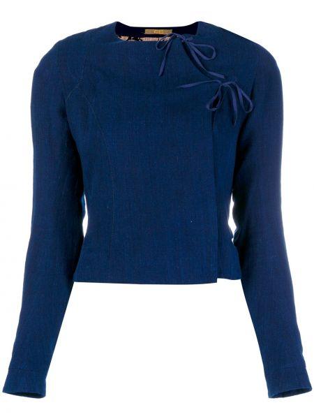 Хлопковая синяя куртка Atelier Bâba