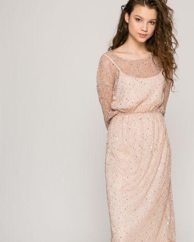 Платье миди с поясом на резинке Vila