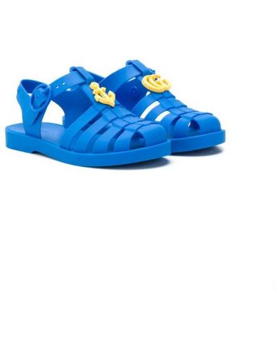 Сандалии синие Gucci Kids