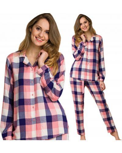 Niebieska piżama z długimi rękawami z wiskozy Key