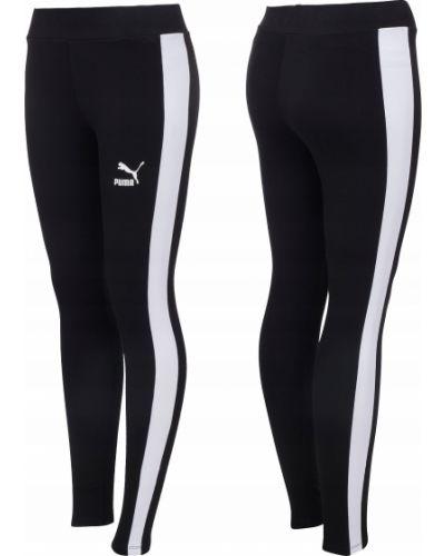 Klasyczne czarne legginsy bawełniane Puma