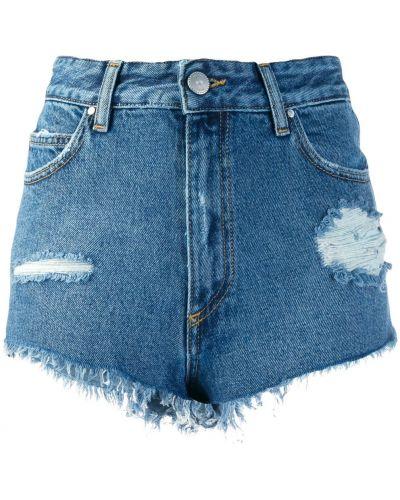 Джинсовые шорты с карманами синий Don't Cry