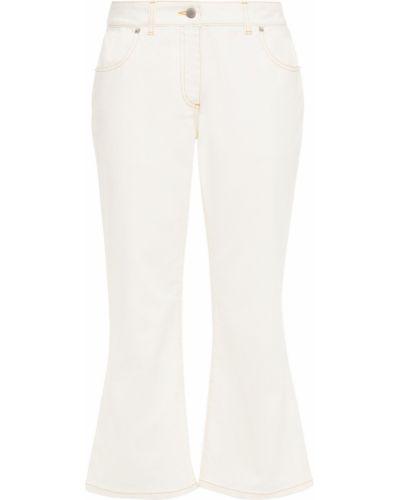 Расклешенные свободные белые джинсы Jw Anderson