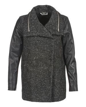 Czarny płaszcz przeciwdeszczowy Noisy May