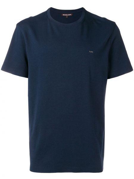 Синяя базовая футболка с вырезом Michael Kors