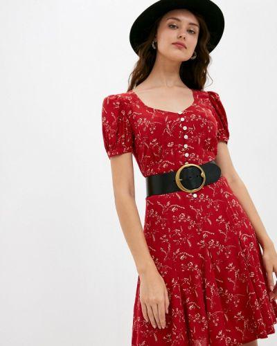 Повседневное красное повседневное платье Polo Ralph Lauren