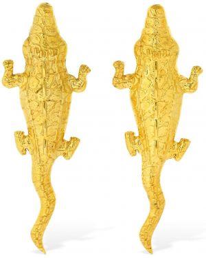 Złote kolczyki sztyfty Natia X Lako
