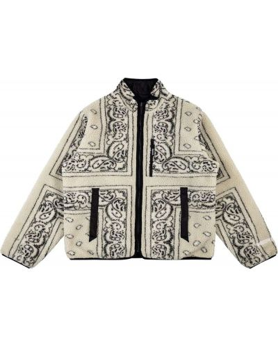Beżowa długa kurtka bawełniana z długimi rękawami Supreme