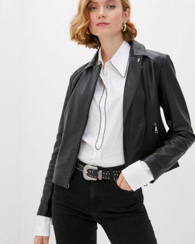 Черная кожаная куртка Ted Baker London