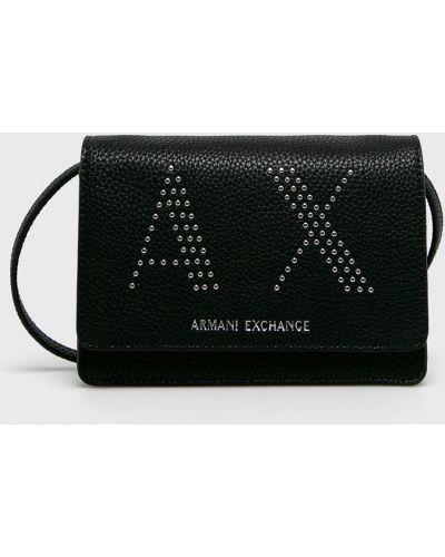 Сумка через плечо маленькая кожаная Armani Exchange