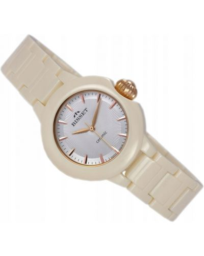 Szary klasyczny zegarek srebrny Bisset