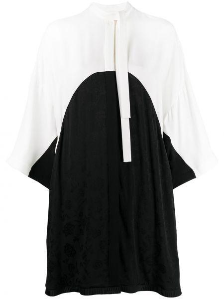 Шелковое платье с вышивкой свободного кроя с вырезом Ports 1961
