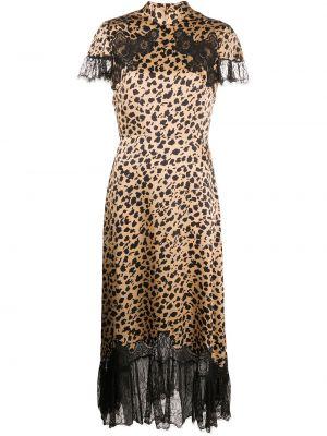 Платье мини миди леопардовое Saloni