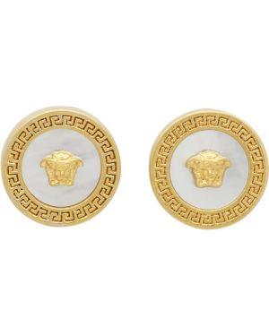 Kolczyki pierścionki z perłami kolczyki ze sztyftem Versace