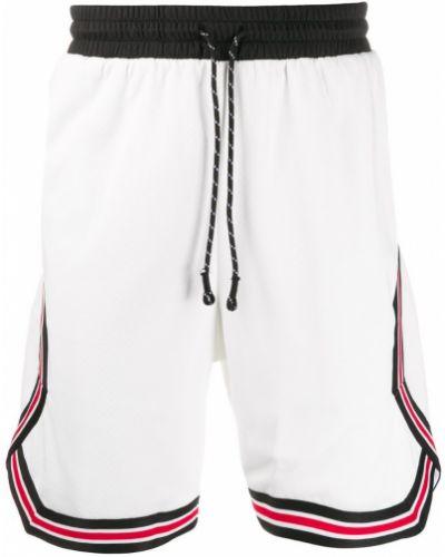 Белые спортивные шорты с карманами свободного кроя Les Benjamins