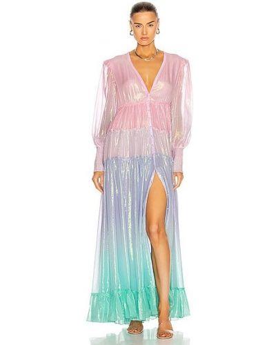 Розовое платье макси из вискозы с подкладкой Rococo Sand