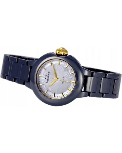 Niebieski klasyczny zegarek Bisset