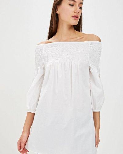 Блузка с открытыми плечами белая итальянский Perfect J