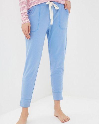 Голубые брюки домашние Gap