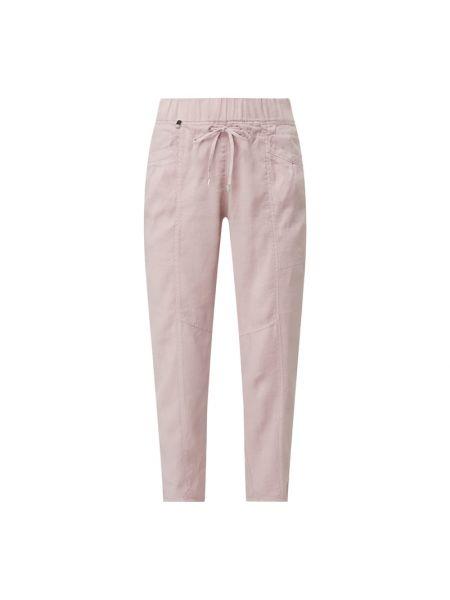 Różowe spodnie z wiskozy Rosner