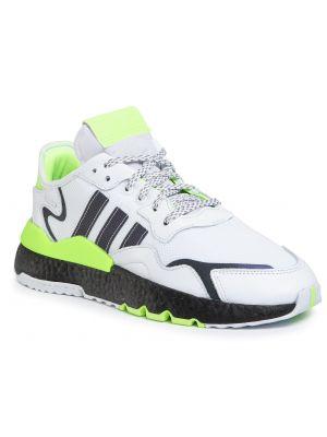 Czarne joggery skorzane miejskie Adidas