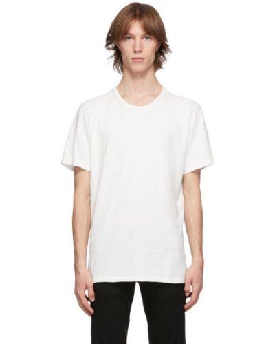 Klasyczny biały klasyczna koszula z łatami z kołnierzem Rag & Bone