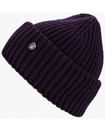 Фиолетовая шапка осенняя Coompol